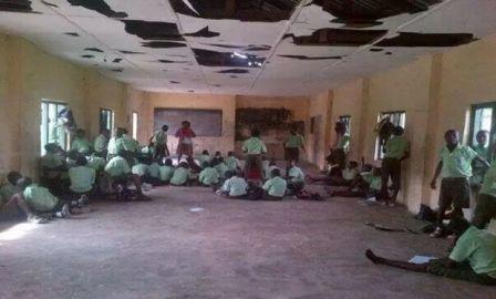 A school classroom somewhere in Nigeria