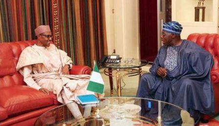 Buhari (left) and Obasanjo
