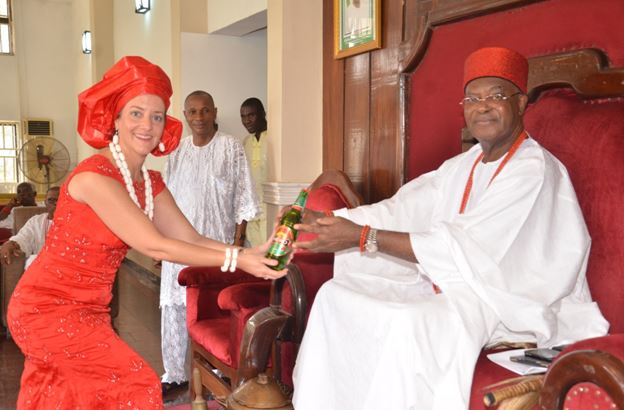 The Obi of Onitsha, His Royal Highness, Igwe Nnaemeka Alfred Ugochukwu Achebe, gave his blessings to commence the Red Cap ceremony in Onitsha, Anambra State, on Saturday, May 12, 2018,