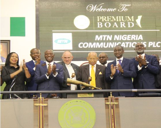 MTN Nigeria Communications Plc on the Premium Board of The Exchange