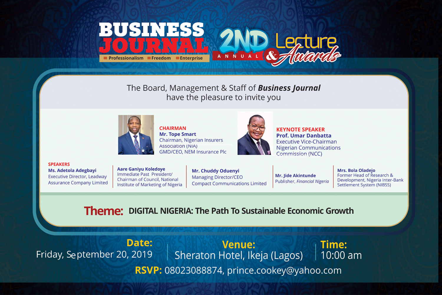 Business Journal NG Event Invitation